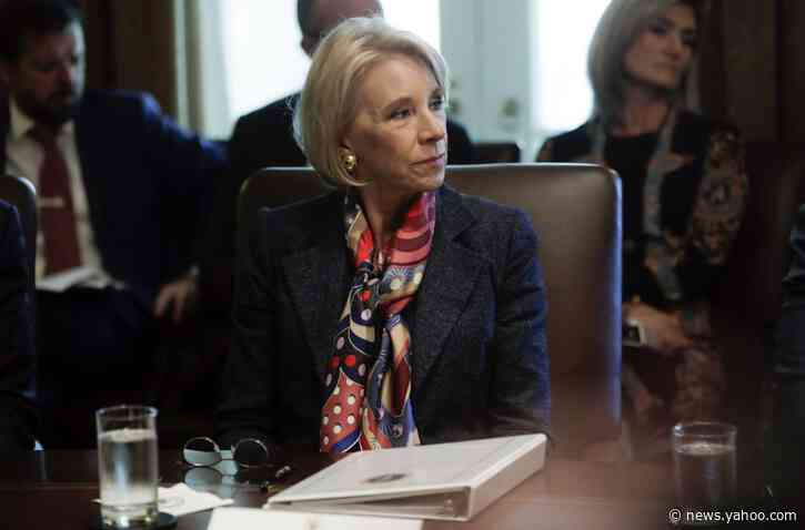 DeVos calls for making financial aid unit a separate agency