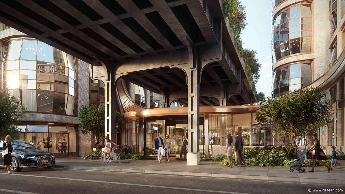 Heatherwick Studio unveils glass lobby joining High Line condos Lantern House