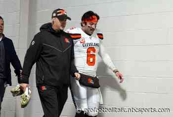 Baker Mayfield limited in practice