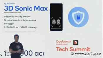 Qualcomm's fingerprint sensor is bigger, but not faster video     - CNET
