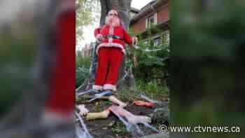 Toronto woman's 'Zombie Santa' stolen from front yard after neighbourhood spat