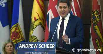 Scheer tries to rally Tories to take on Trudeau amid leadership attacks