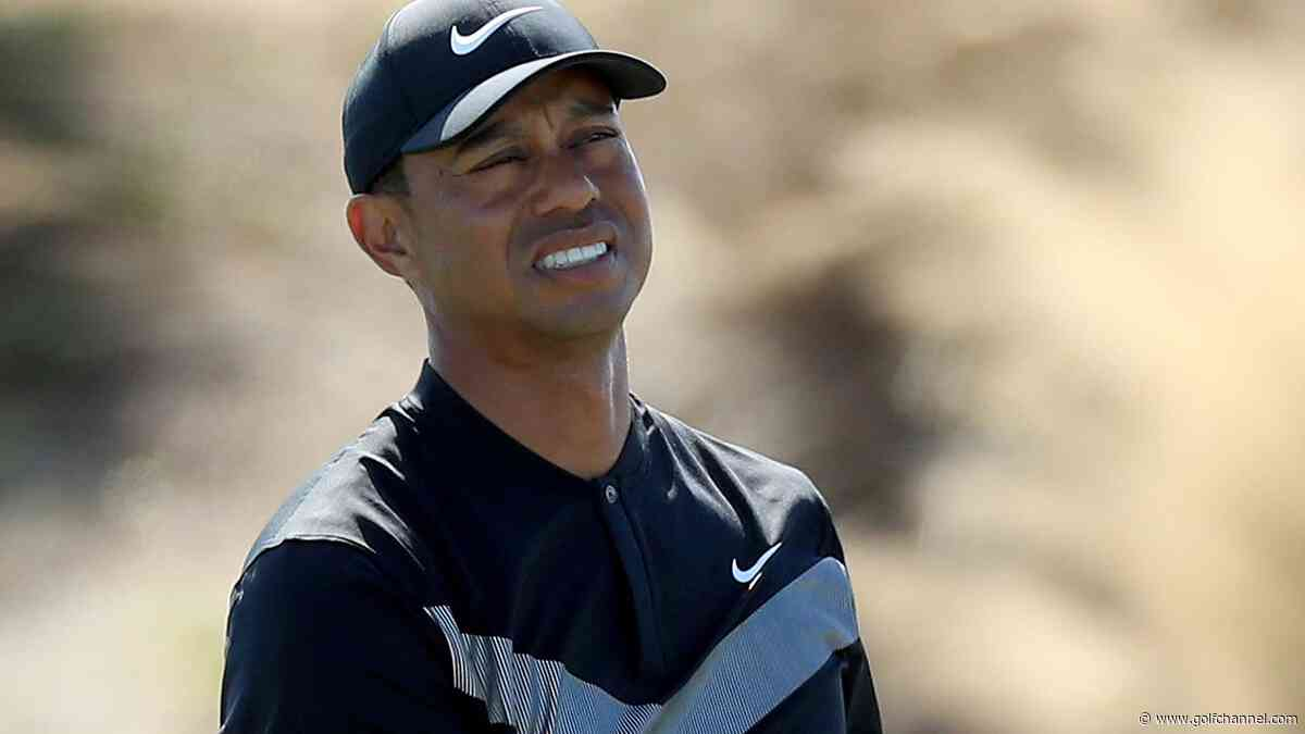 Watch: Woods blows drive past Thomas ... then lets him know it
