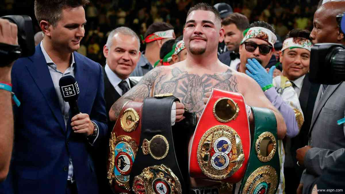 Ruiz vows to not 'let these belts go' vs. Joshua