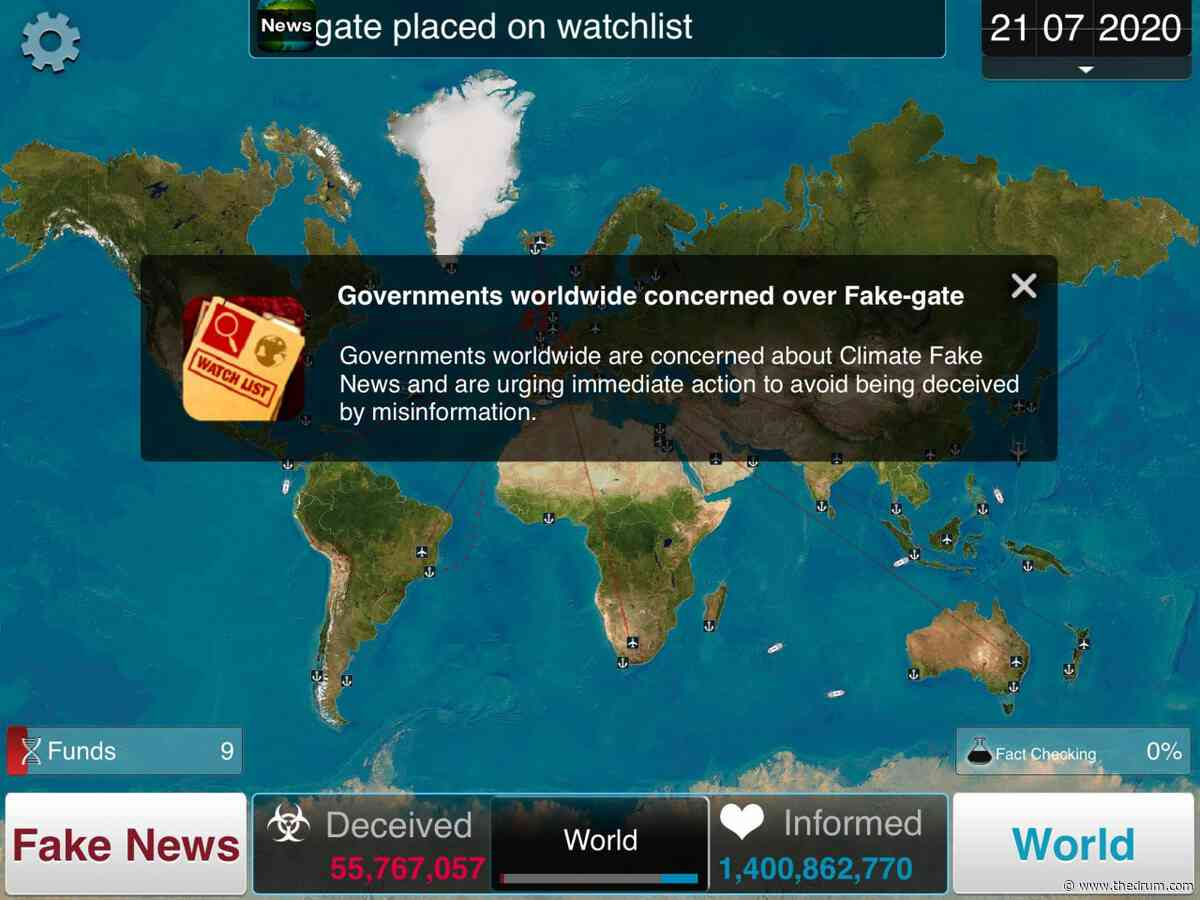 Full Fact partners with a popular plague game to show how fake news spreads