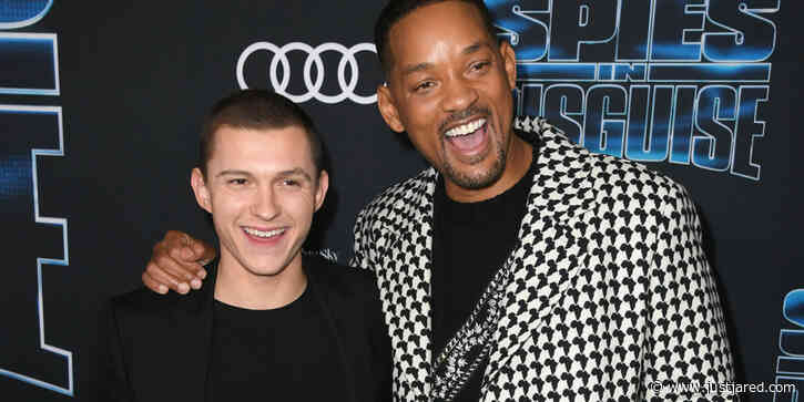 Will Smith & Tom Holland Hit Up The Premiere of 'Spies in Disguise' in Hollywood