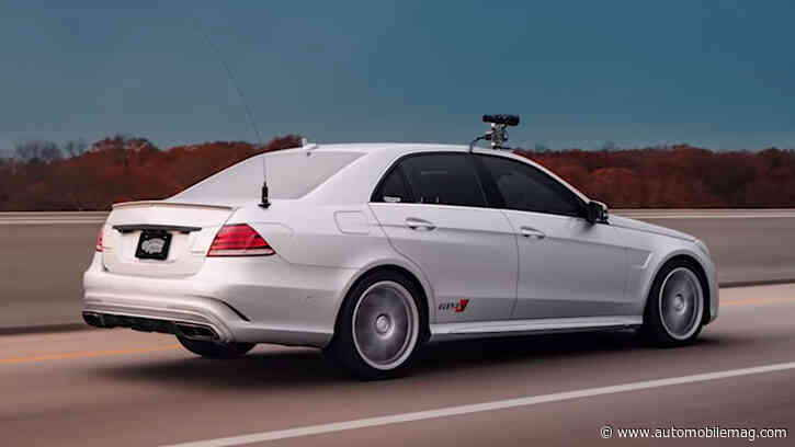 This Disguised 700-HP Mercedes E63 AMG Shattered the Cross-Country Speed Record
