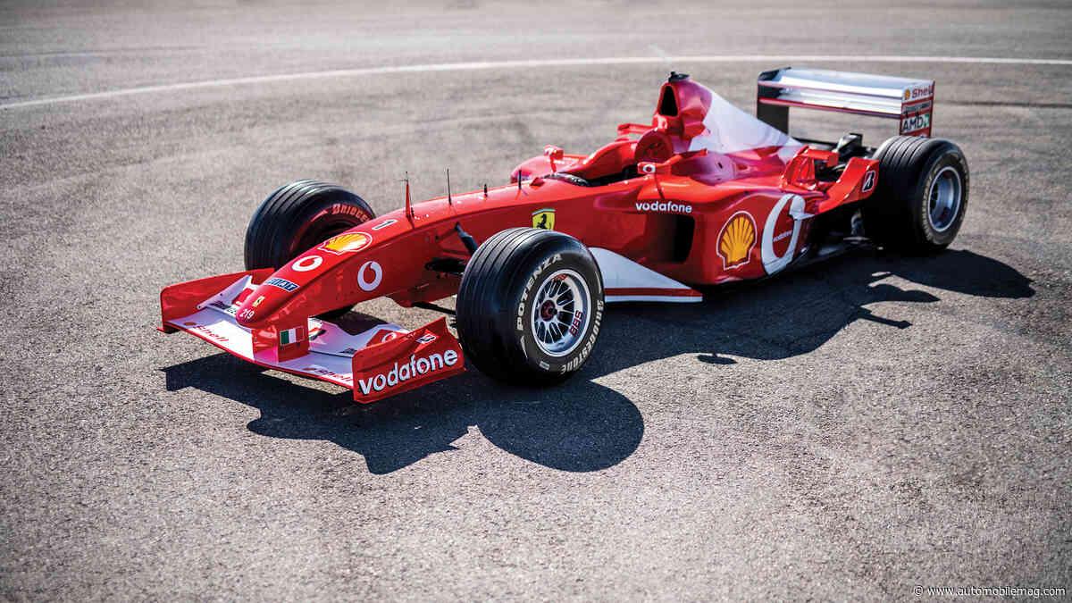 Ex-Schumacher Ferrari F1 Race Car Sells for Millions in Abu Dhabi