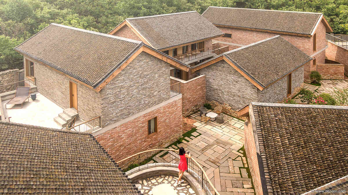 LLLab uses red brick and slate for retreat close to the Great Wall of China