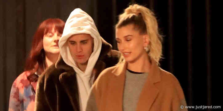 Justin Bieber & Wife Hailey Head To Church Through The Back Entrance