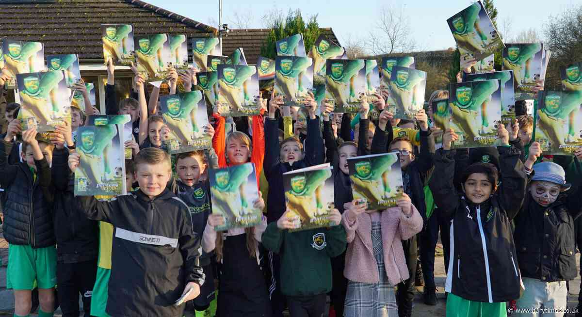 Unsworth FC youngsters go crazy for club's own unique sticker book