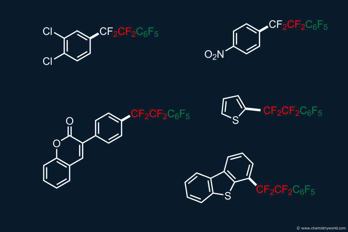 Simple way to construct molecules with perfluoroalkyl bridges