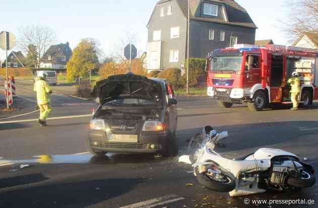 POL-RBK: Wermelskirchen - Rollerfahrer in Dabringhausen schwer verletzt