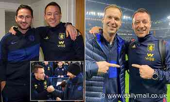 Terry revels in his Stamford Bridge return as former captain poses for pictures
