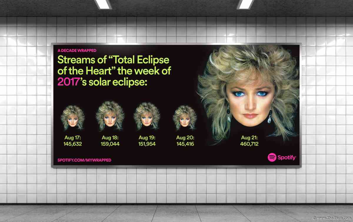 Spotify unwraps the decade's odd listening habits with another billboard campaign