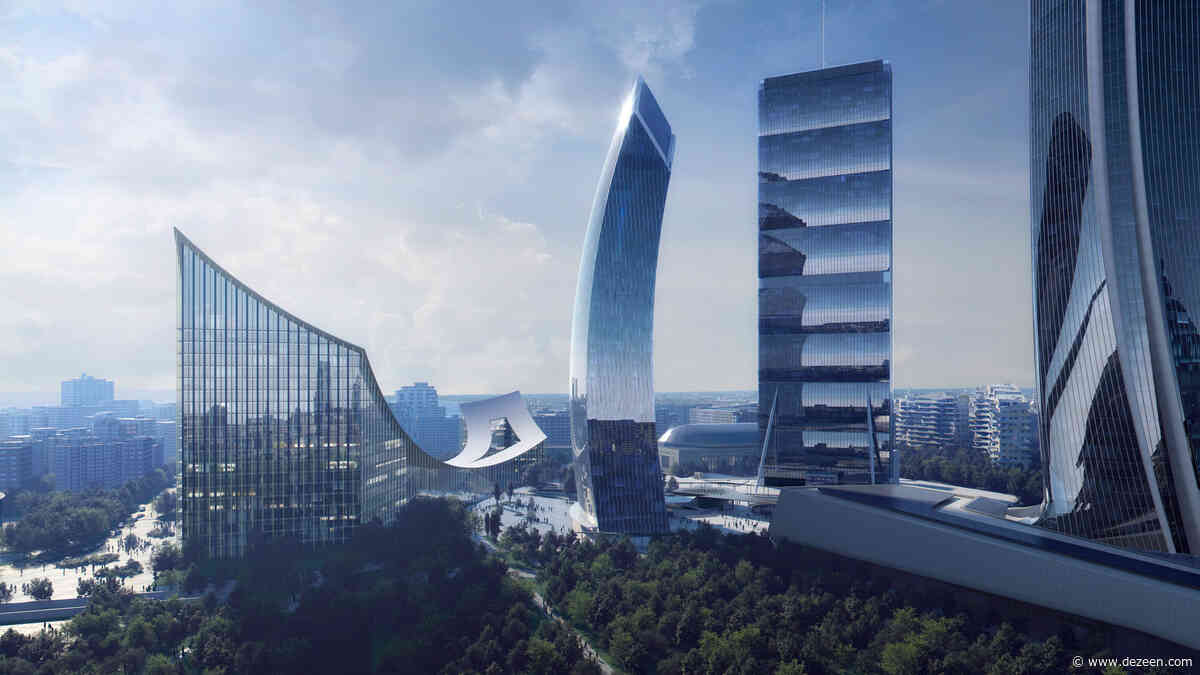 BIG reveals visuals of gateway building for Milan's CityLife district