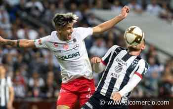 Monterrey saca ventaja de 2-1 ante el Necaxa del ecuatoriano Kevin Mercado en semifinales del fútbol mexicano
