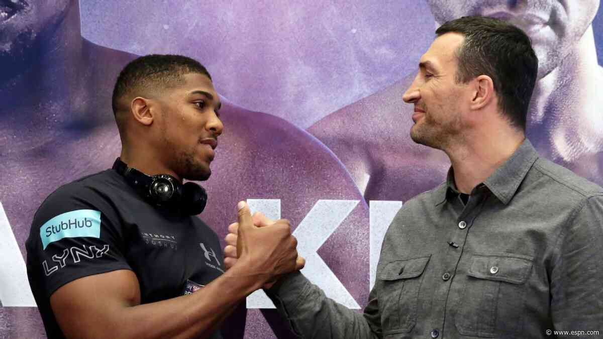 From opponent to mentor: The bond between Wladimir Klitschko and Anthony Joshua