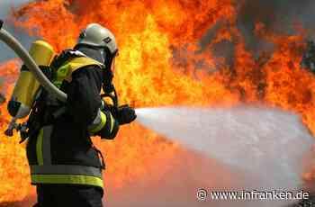 Feuer in Oberfranken: Scheune steht in Flammen