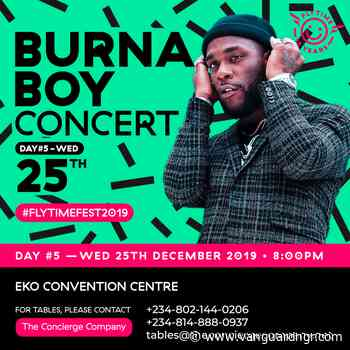 Christmas with Burna Boy live at flytime music festival 2019