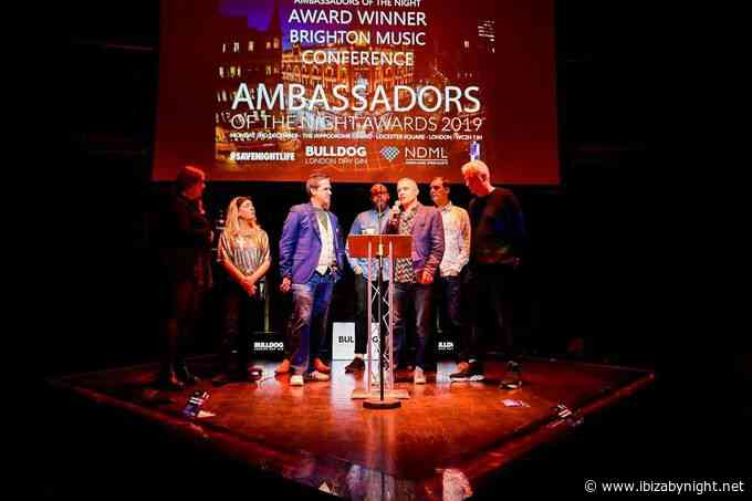 BRIGHTON MUSIC CONFERENCE awarded for commitment to electronic dance music at the ambassadors of the night awards!