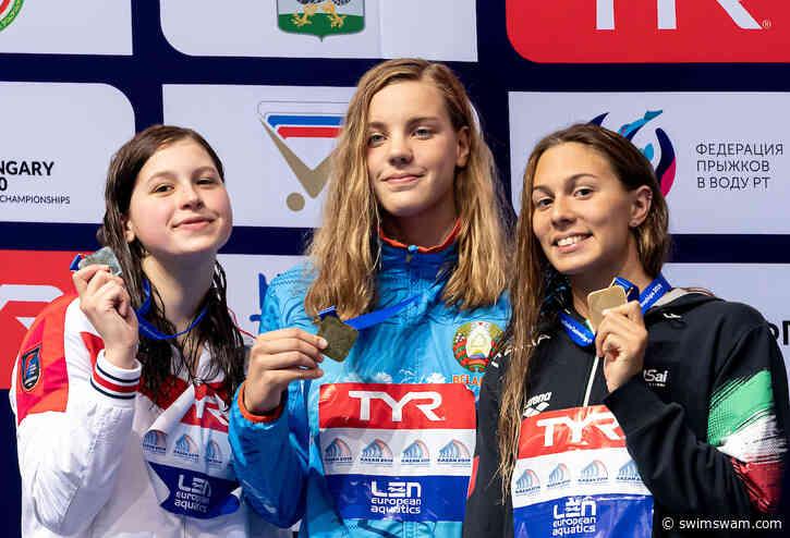 Anastasiya Shkurdai Sets European Junior and Belaruisan 50 Fly (SCM) Records