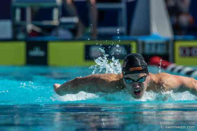 Texas' Sam Pomajevich Swims 1:39 in 200 Fly Time Trial at Minnesota Invite