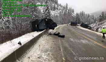 Serious collisions shut down Highway 3 in Grand Forks, B.C., Wednesday