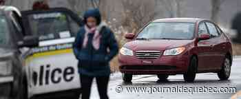 Happée par une voiture: une signaleuse routière gravement blessée à Saint-Paul-de-l'Île-aux-Noix