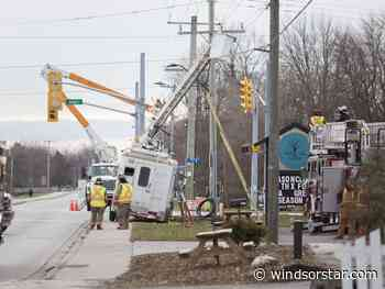 Photos: Worker rescued after truck hits hydro lines
