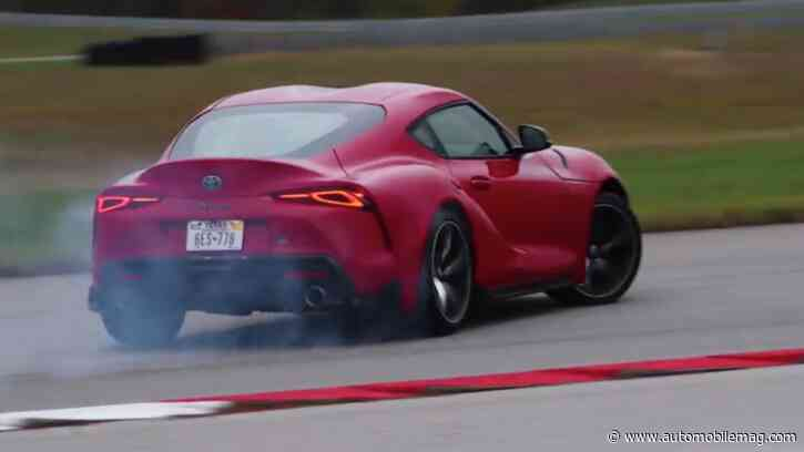WATCH: Pro Racer Andy Pilgrim Gets Drifty with the 2020 Toyota Supra
