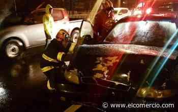 Cuatro heridos tras accidente en La Y de Puembo, la noche del jueves 5 de diciembre de 2019
