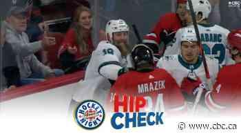 Hip Check: Joe Thornton drops Petr Mrazek