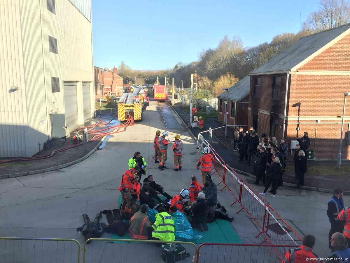 Bury College students rescued as fire crews stage training exercise