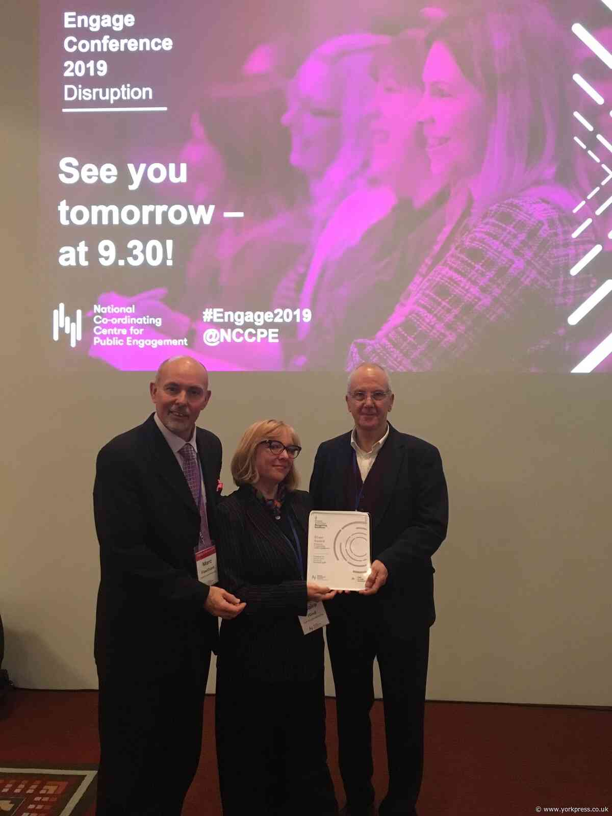 University scoops top award for engagement