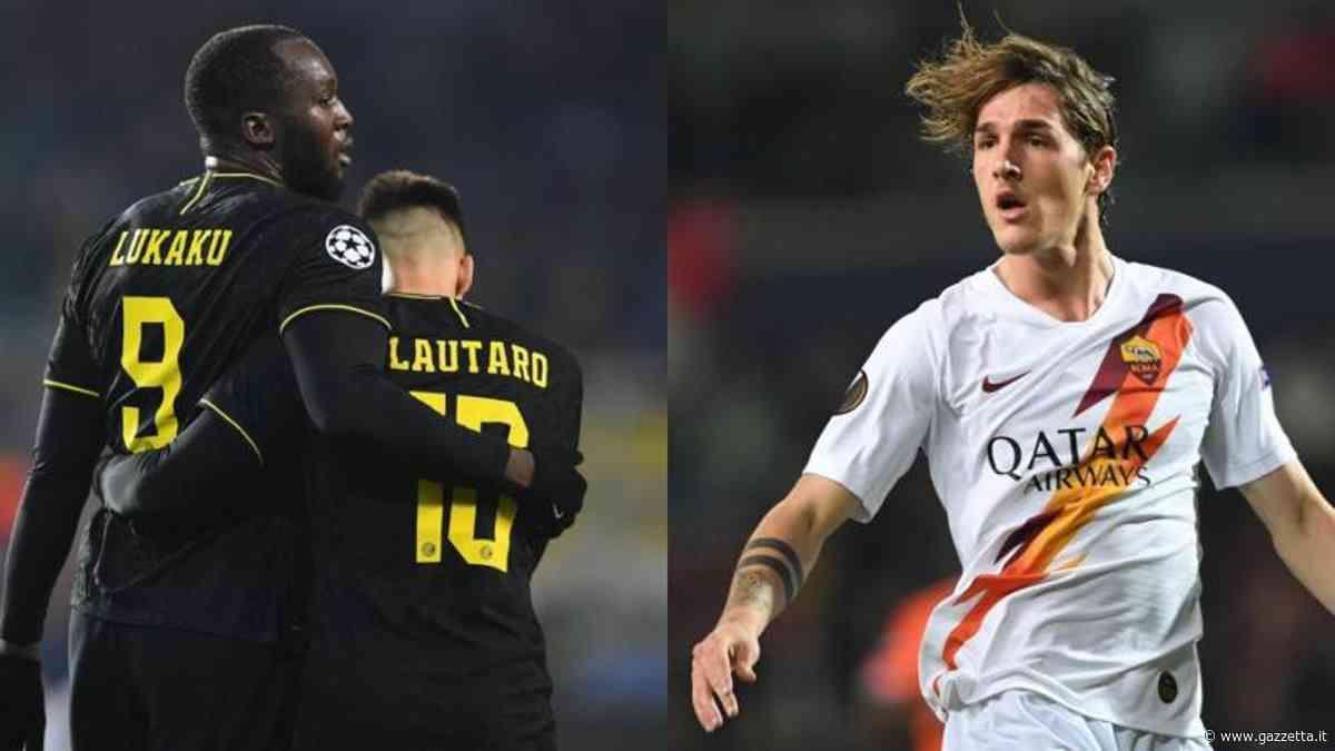 Inter-Roma, Lukaku e Lautaro sfidano Zaniolo