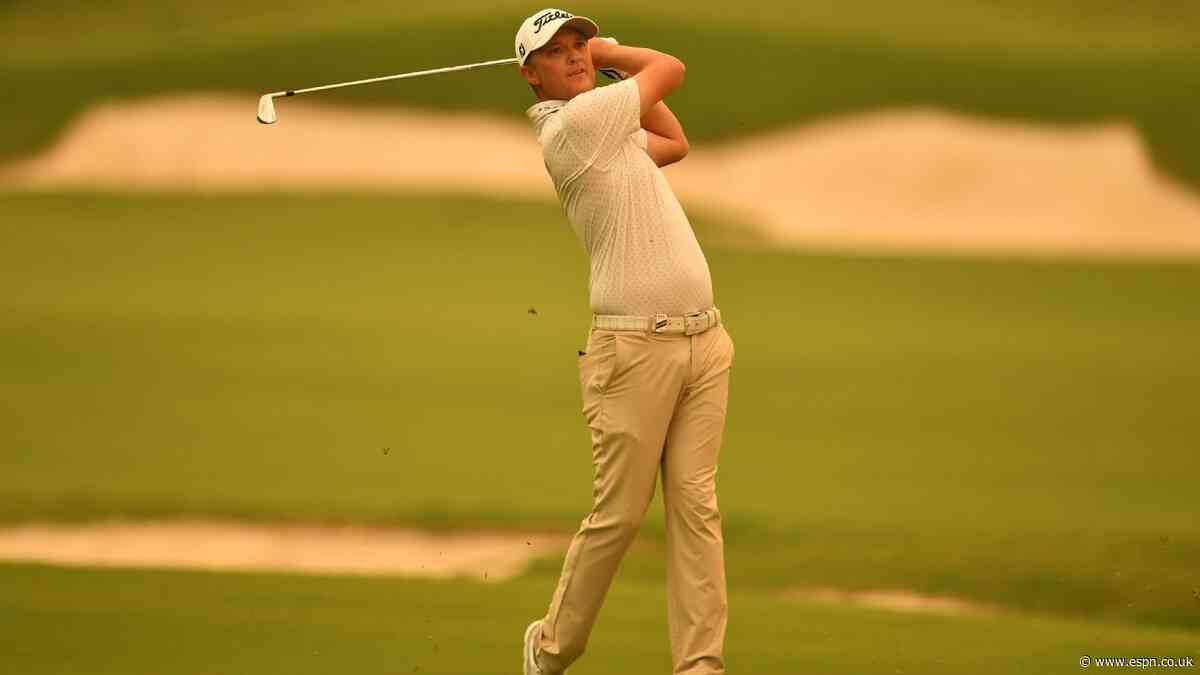 Jones birdies final hole, up 1 shot at Aussie Open