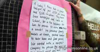 Handwritten tales of poverty and austerity with the #ToryStory have appeared around Swansea