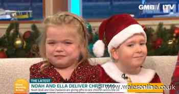 """""""I'm smiling ear to ear"""": Two young charity helpers melt GMB viewers' hearts in adorable live interview"""