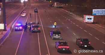 Female pedestrian on life-support after being hit by vehicle on QEW in Oakville