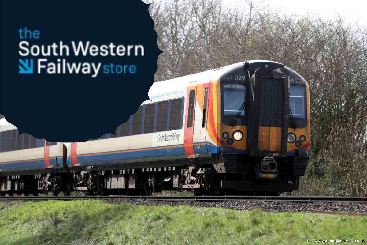 A prankster has set up a website mocking South Western Railway with a fake shop