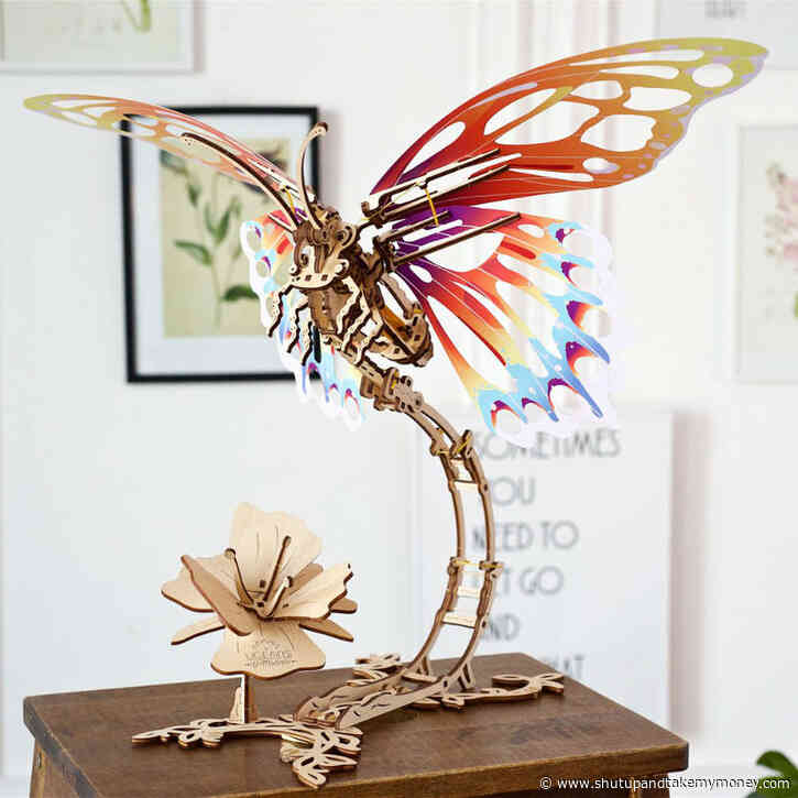 UGears Wooden Butterfly 3D Puzzle