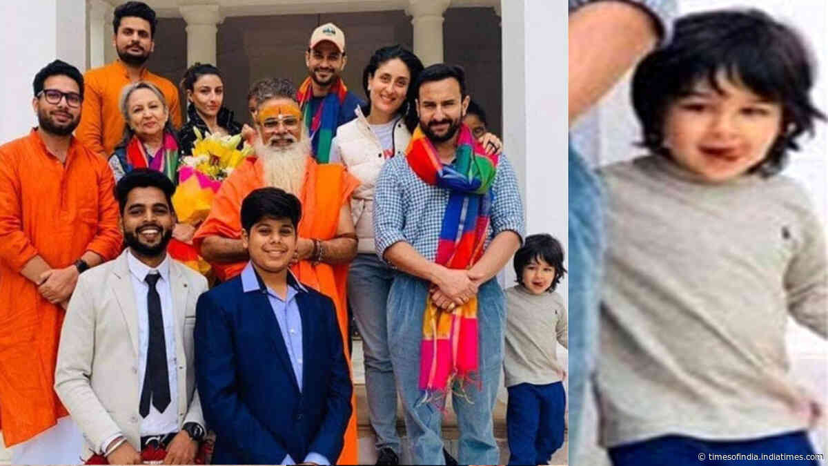 Taimur Ali Khan's naughty expressions in this family picture will surely melt your heart!