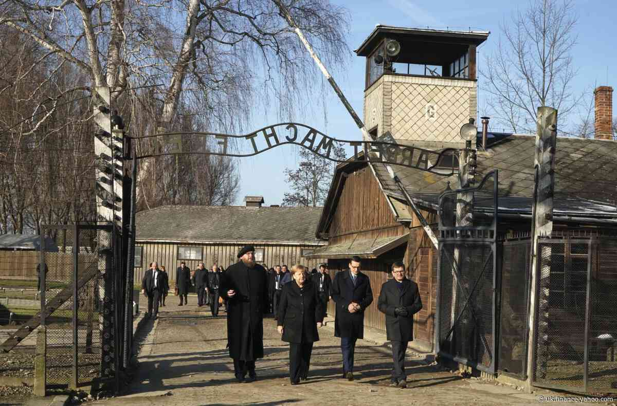 Angela Merkel makes her first visit to Auschwitz concentration camp