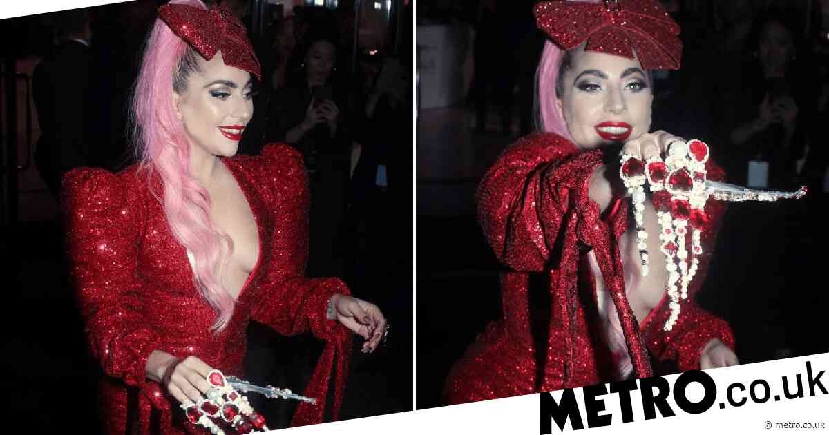 Lady Gaga nails an extra look in seriously OTT talons at beauty launch