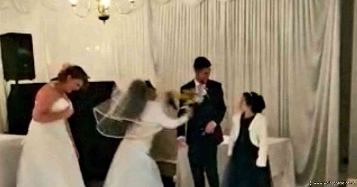Woman dressed as bride burst into couple's wedding reception shouting 'it should have been me'