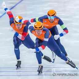 Twee keer goud voor Nederland op teamsprint, Visser net naast podium