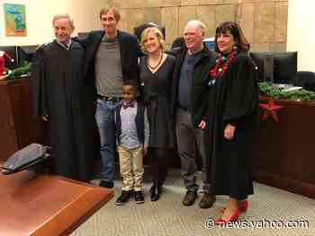 'Not a dry eye': 5-year-old Michigan boy's kindergarten classmates turn out to witness his adoption
