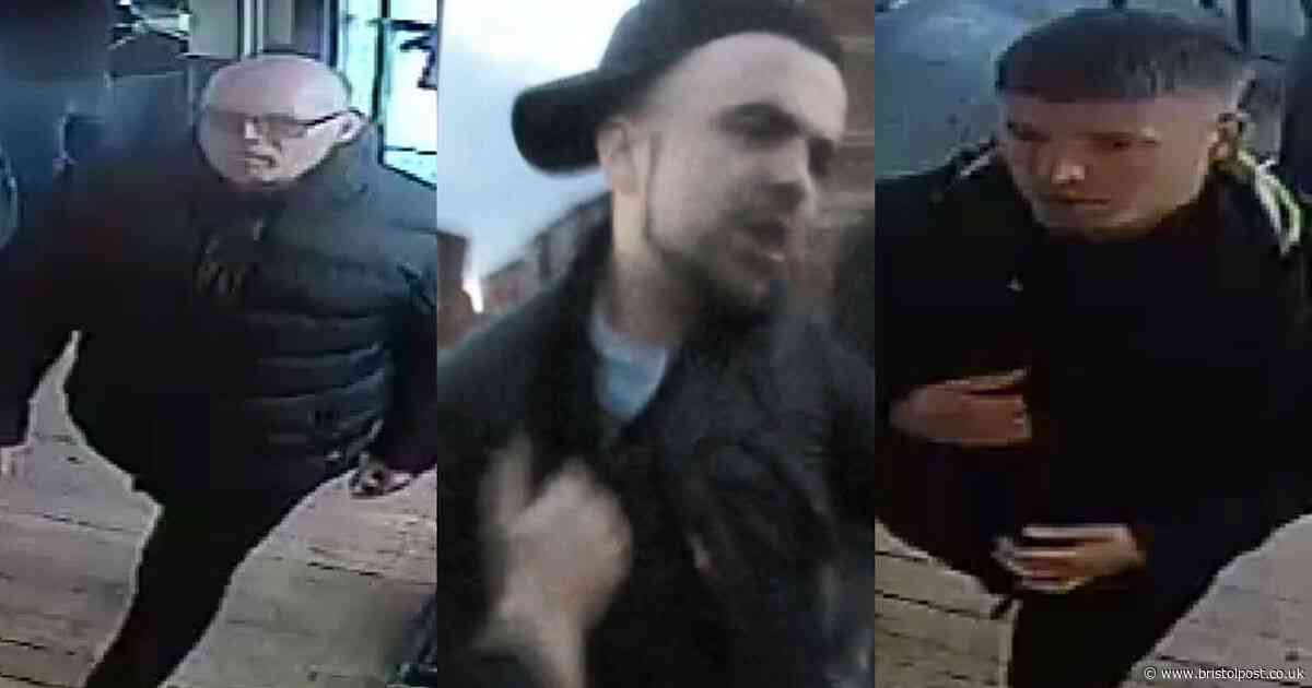 Police want to speak to these men about violence between Bristol City and Luton Town fans