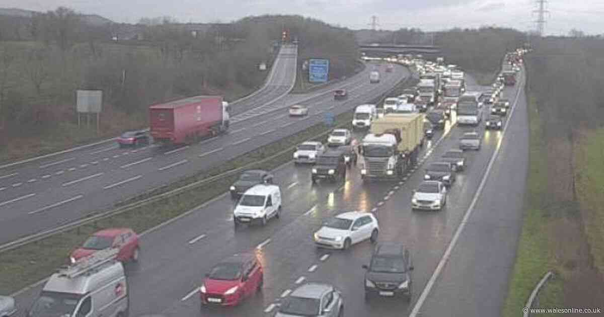 Live updates as crash on M4 causes long delays in Cardiff